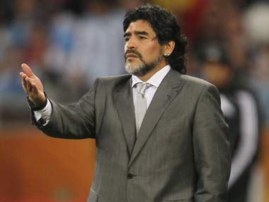 File photo of Diego Maradona. AP
