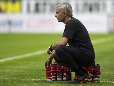 Jose Mourinho during the pre-season friendly match between Wigan Athletic and Manchester United. AFP
