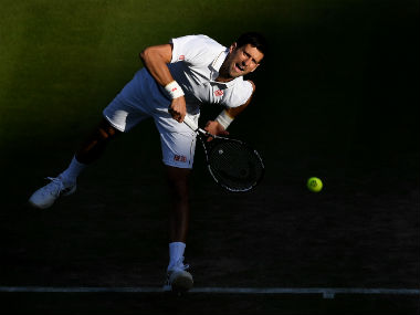 Novak Djokovic in action during his third-round clash against Sam Querry. Getty Images