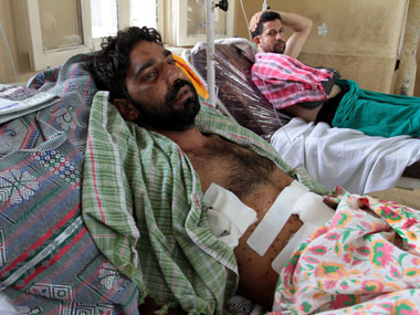 People injured by pellets are being treated at the Sri Maharaja Hari Singh hospital in Srinagar. Ishfaq Naseem/Firstpost