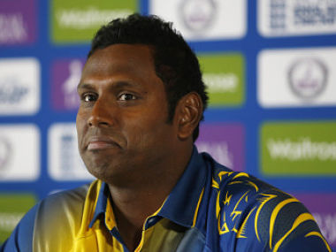 Sri Lanka's capatin Angelo Mathews. Reuters