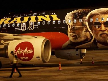 AirAsia dedicated an aircraft to Rajinikanth and Kabali. PTI