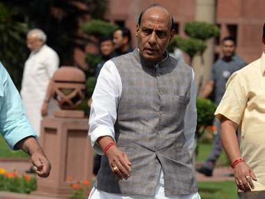 Union Home Minister Rajnath Singh. AFP
