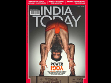 Baba Ramdev on the cover of India Today.