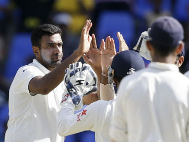 Ravichandran Ashwin led the destruction in the 2nd innings with figures of 7/83, his second-best in Tests. AP