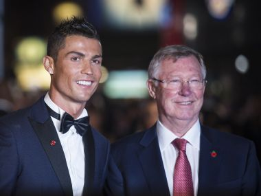Real Madrid's Cristiano Ronaldo and Sir Alex Ferguson. AFP
