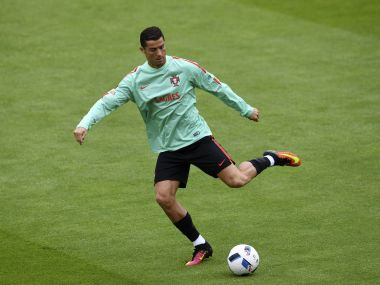 Portugal's Cristiano Ronaldo in training. AFP