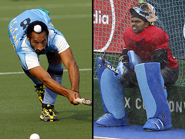 Sardar Singh and Sreejesh Ravindran. Reuters