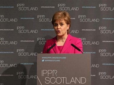Scotland's First Minister Nicola Sturgeon. Reuters file image