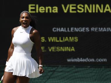 Serena Williams stormed into the Wimbledon final, dispatching Elena Vesnina in straight sets. Reuters