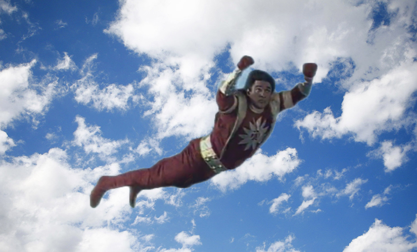 Shaktimaan was spotted on his way to rescue Chotu, a fifth grader who lost his pencil in the classroom.