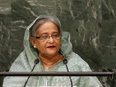 Bangladesh's Prime Minister Sheikh Hasina. File photo Reuters