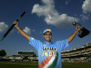 One of Sourav Ganguly's greatest moments from his cricketing career was winning the Natwest Trophy in 2002. Getty Images