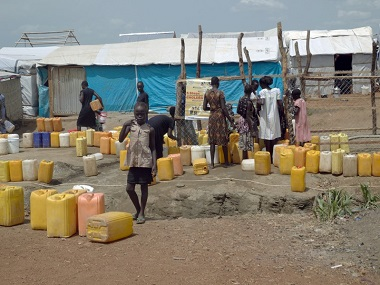 File photo of an UN refugee camp in Juba, South Sudan. DPA