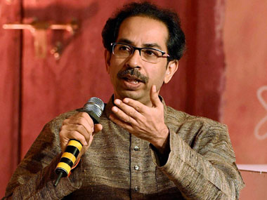 Shiv Sena chief Uddhave Thackeray. PTI