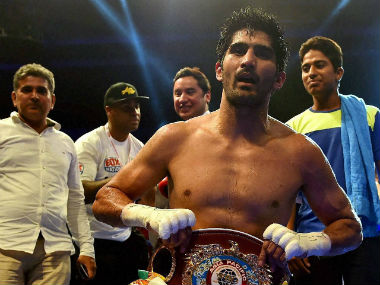 File picture of Vijender Singh. PTI