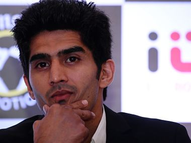 File photo of Vijender Singh. AFP