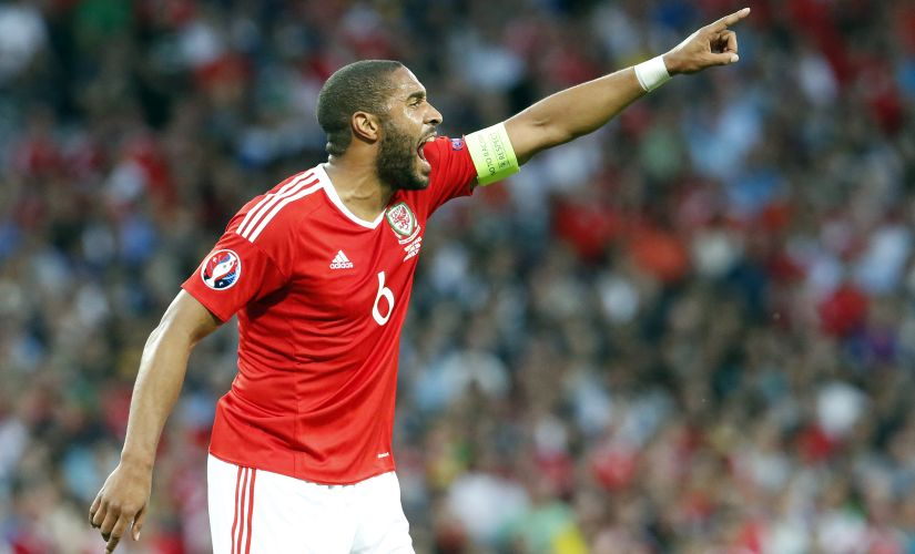 Welsh rock Ashley Williams eill be tasked with stopping Eden Hazard and Kevin de Bruyne. AFP