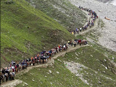 A file photo of Amarnath yatra. CNN News18