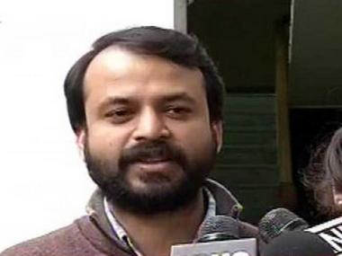 File image of AAP leader Ashish Khetan. News18