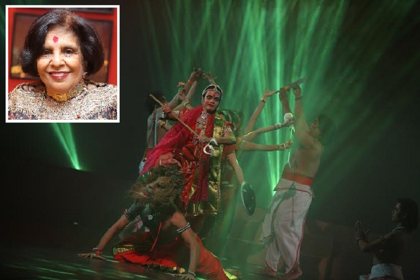 (Inset) Padmashri Shobha Deepak Singh; a still from the ballet 'Shree Durga'