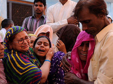 Members of Mohammad Akhlaq's family who was. Getty images