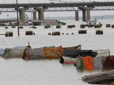 Heavy rainfall sent Ganga into spate. PTI