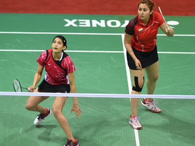 File photo of Jwala Gutta and Ashwini Ponappa. AFP