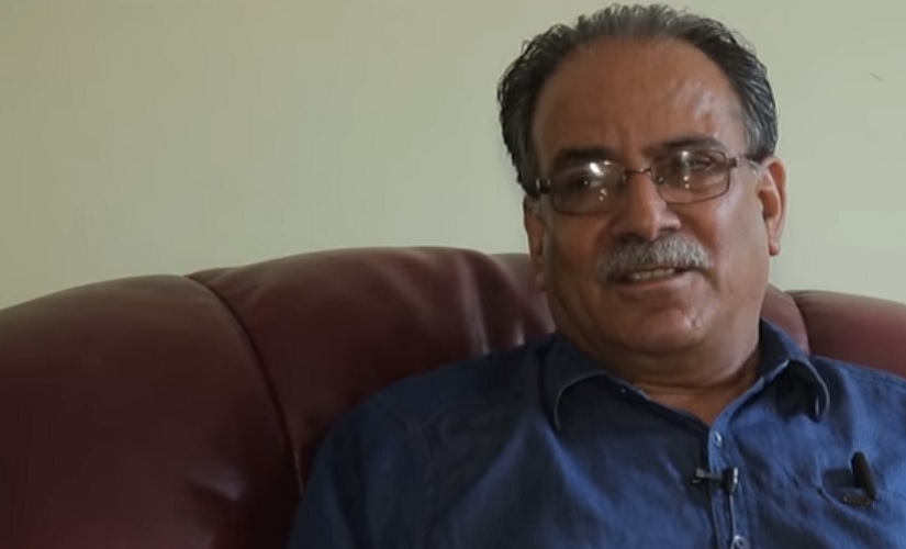 File image of Prachanda, the man likely to return to power as Prime Minister of Nepal. Screen grab from YouTube