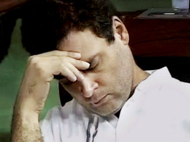 Rahul Gandhi in the Lok Sabha. PTI