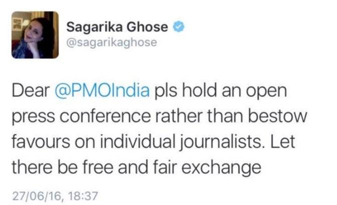 sagarika tweet