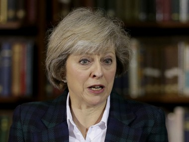 Britain's Home Secretary Theresa May. AP