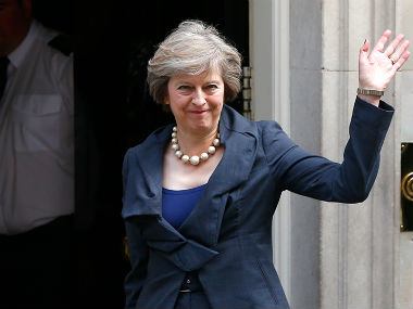 UK PM Theresa May. Reuters