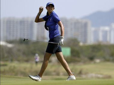 Aditi Ashok of India during the women's golf event at the 2016 Rio Olympics. AP