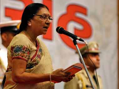 File image of Anandiben Patel. Reuters