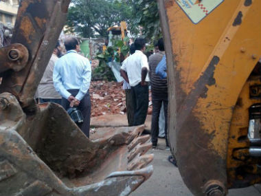 Demolition underway in Bengaluru. CNN-News18