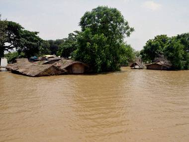 Houses submerge in water after heavy rains in Danapur-Diyara, Bihar. PTI