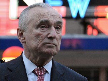 William Bratton, Police Commissioner of New York City. Reuters