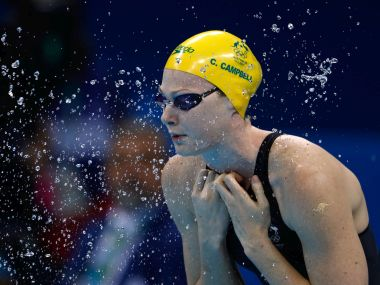 Cate Campbell in action during the Rio 2016 Olympics. Getty