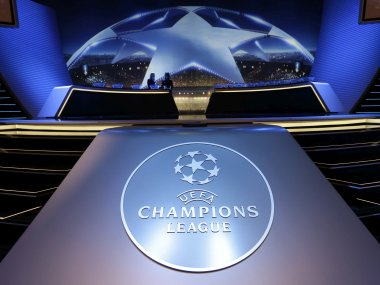 Logo of the UEFA Champions League. AP