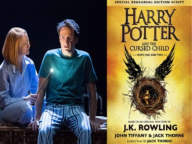 Harry Potter and the Cursed Child: From the play (L) and the book cover (R)