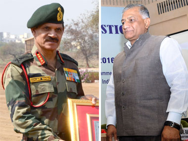 General Dalbir Singh and Minister of State for External Affairs General VK Singh. Image courtesy PIB