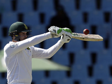 Quinton de Kock (82) (in pic) and Stephen Cook (56) gave South Africa a strong start with an opening partnership of 133. AP