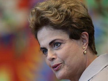 File photo of Dilma Rousseff. AP