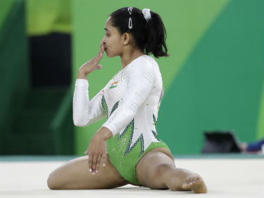 Dipa Karmakar performs during the artistic gymnastics qualifying round. AP