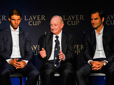 File photo of Rafael Nadal, Rod Laver and Roger Federer. Getty Images