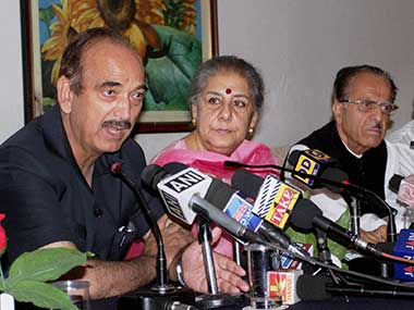 File photo of Congress leader Ghulam Nabi Azad. PTI