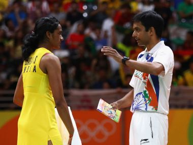 PV Sindhu and P Gopichand. Getty Images