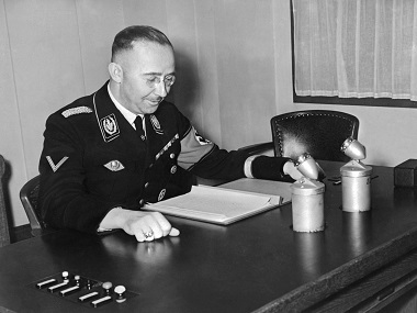 This file photo taken on January 01, 1939 shows SS leader Heinrich Himmler. AFP