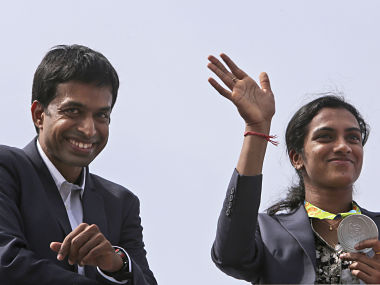 PV Sindhu and Pullela Gopichand. AP